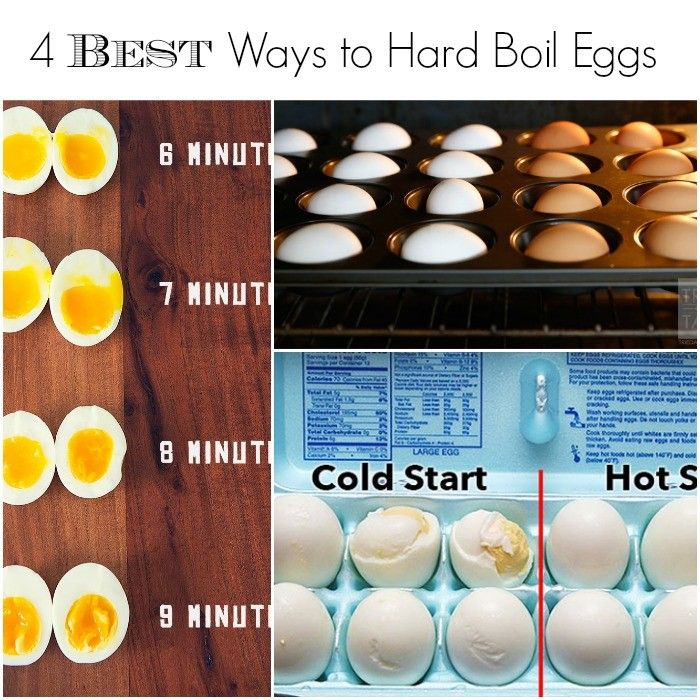 The best 4 ways to get perfect hard boiled eggs every time!