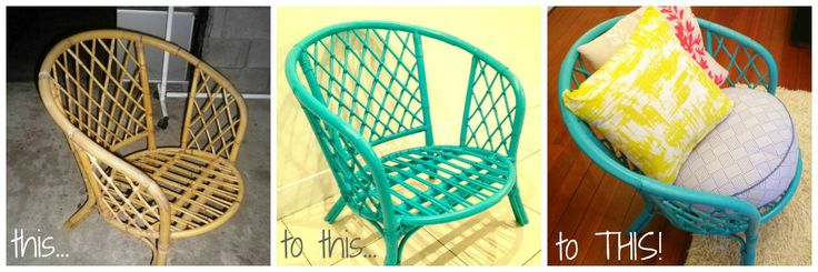 from me to mum: DIY painted cane chair