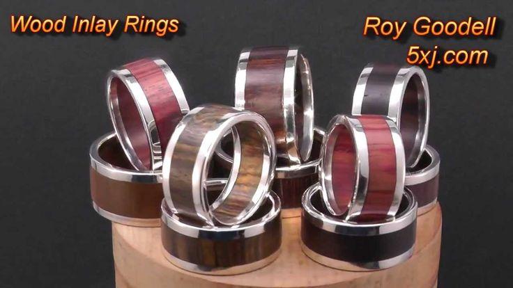 http://www.5xj.com/WoodRings/TitaniumWoodRings.html Titanium Wood Inlay Rings: TNG: http://youtu.be/1eauOAfa1wQ http://www.5xj.com/wood_rings/woodrings_inser...