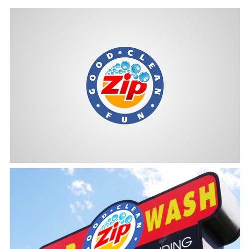 Zip Car Wash - Logo Design
