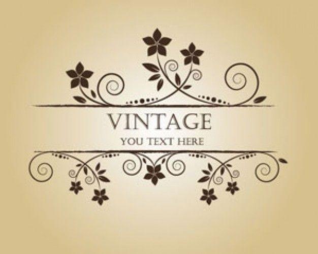 Vintage Flower Banner