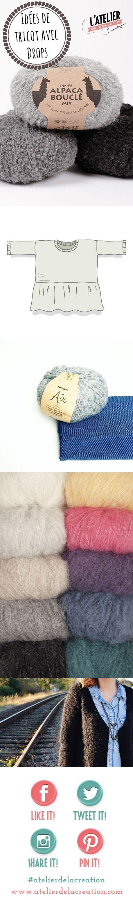 Tricot avec Drops modeles tricot de créatrices indépendantes - Blog Atelier de la Création