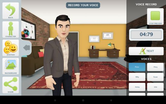How to Create and Narrate Animations on Your Android Tablet with Tellagami