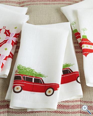 Cute Printed Christmas Tea Towels Tis The Season