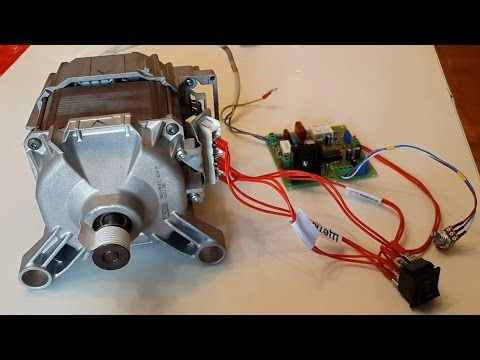 Как регулировать обороты двигателя от стиральной машины - YouTube