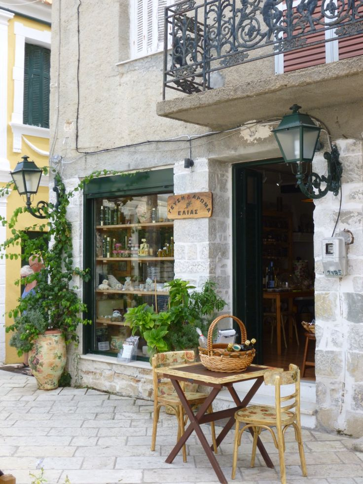 Shop selling all things olive! Lakka, Paxos