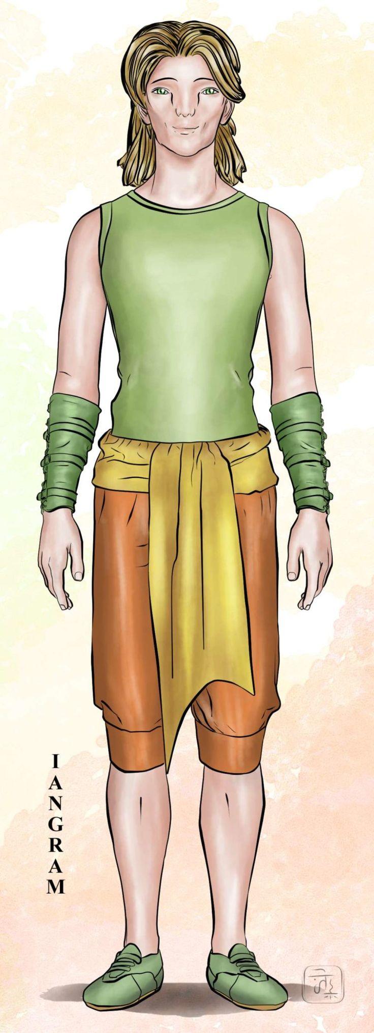 La Grande Onda -  Personaggi: Iangram Basil è un ragazzo discendente da una razza di uomini ghepardo. E' alto e magro, dal portamento nobile: la sua camminata è molto silenziosa e soave, sembra quasi non toccare terra e fa pochissimo rumore. Originario del pianeta Koda ha gli occhi verde acqua, quasi fluorescenti e la pupilla verticale. E' alto quasi due metri e mezzo, ha spalle strette ed esili e la pelle molto chiara. E' fratello di Soria. #chiaramalerba #libridifantascienza #libri #roman