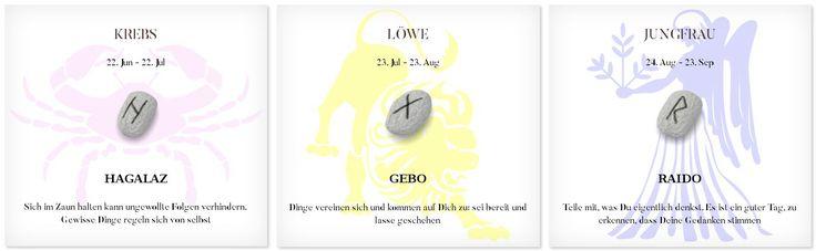 Runen Tageshoroskop 9.9.2016 #Sternzeichen #Runen #Horoskope #krebs #löwe #jungfrau