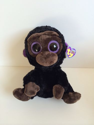 Ty Romeo The Black Gorilla Monkey Beanie Boo Retired Large 9