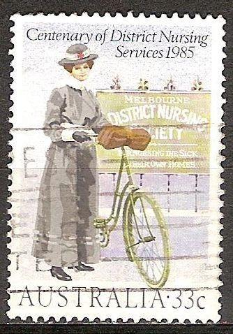 Centenario de Servicios de Enfermería del Distrito. Enfermera del Distrito del año 1900.