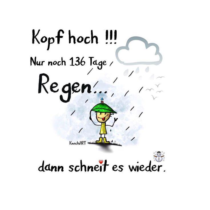 Kopf Hoch !!! Nur Noch 136 Tage #Regen U2026 Dann Schneit Es Wieder · Kopf Hoch WitzigLustige ...