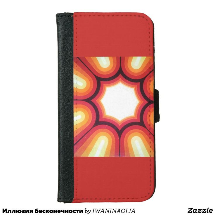 Иллюзия бесконечности wallet phone case for iPhone 6/6s