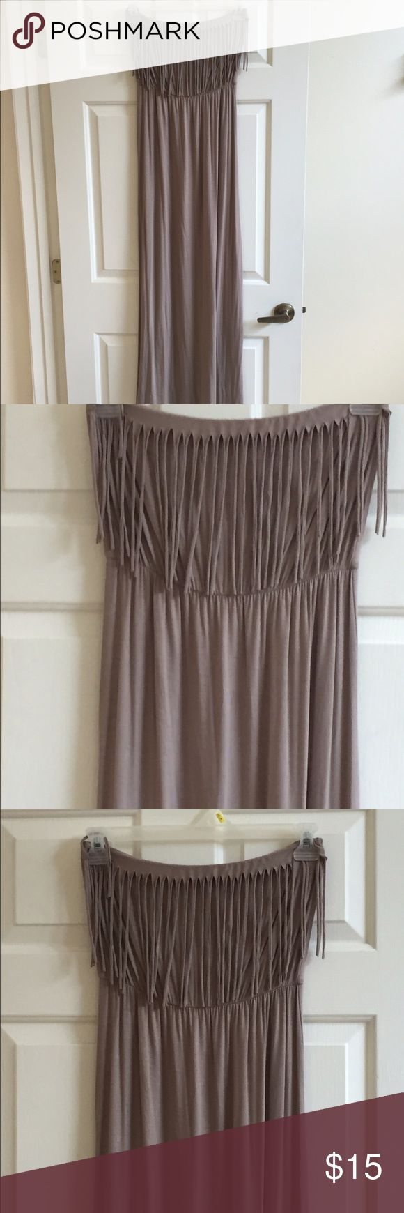 Strapless light brown maxi Dress Beautiful dress light brown never worn brand new Dresses Maxi