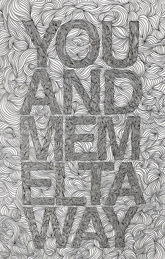 New Typography Designs You And Me Melt Away by Kyle Warfield
