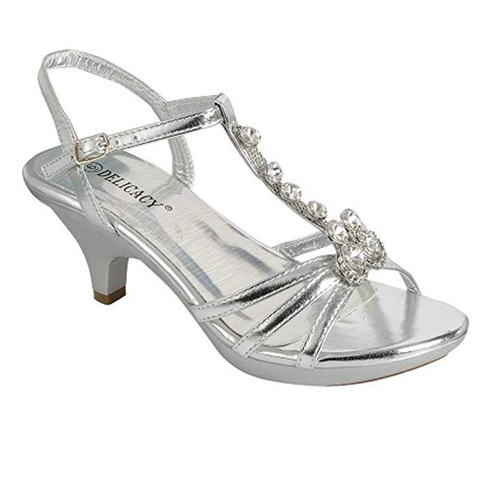 c2de3fa43049 JJF Shoes Delicacy Angel-62 Womens Strappy Rhinestone Dress Sandal Low Heel  Shoes