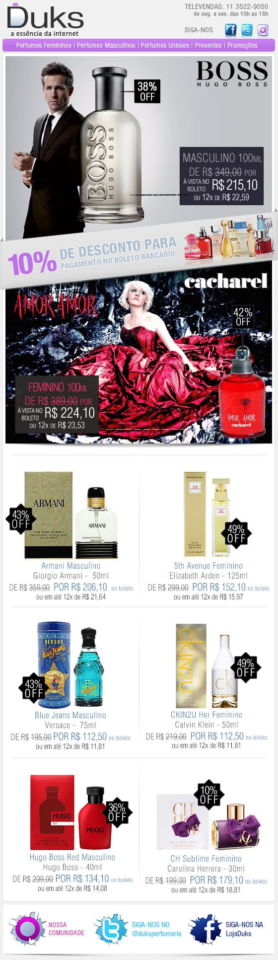 E-mail Marketing Duks Perfumes Promoção 23/12/2013 http://www.duks.com.br/sistema/custom.asp?IDLoja=11220&arq=emkt_12_23.htm&int=1&origem=emailmkt