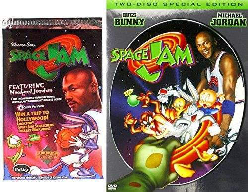SPACE JAM Special Edition Movie & Trading Card Set - 2 Disc DVD - Looney Tunes Space Jam Trading Car @ niftywarehouse.com