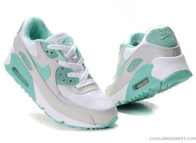 finest selection f1cdf d6717 ... Cool Nike Air Max 90 Womens Grey Chlorine Blue For You   Nike Air Max  90 ...