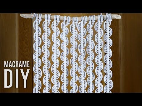 DIY Macrame Wall hanging- Beginners Tutorial- Basic Knots Step by Step - YouTube