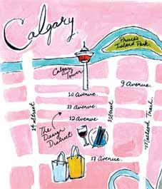 We've scouted the best spots to stay, eat and shop while visiting Calgary. illustration by Emilie Simpson