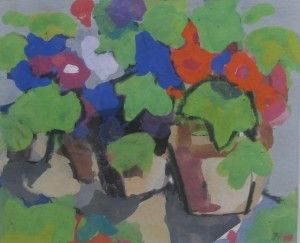 Julian Bailey Geraniums in the loggia