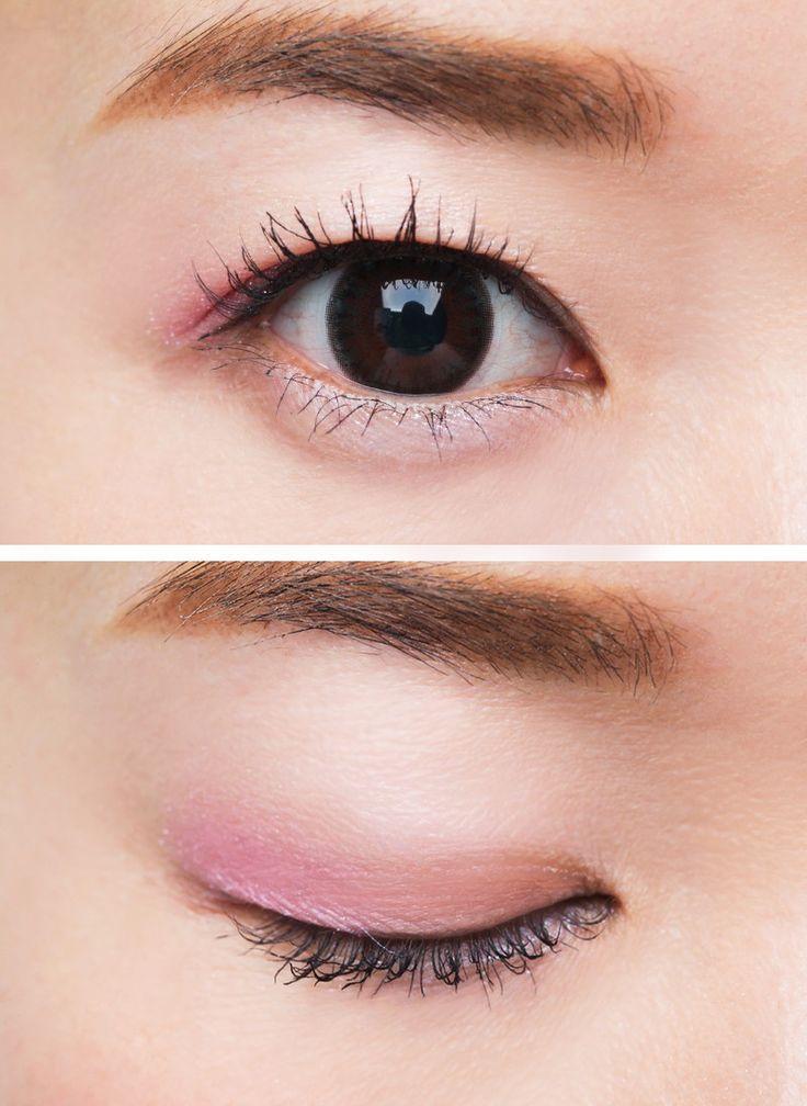 """奥二重さんはピンクシャドウのチラ見せで""""ほんのり華やか""""EYEが ... ピンクを使っても甘くなり過ぎず、まばたきの度にピンクがチラ見えする可愛さは奥二重さんならでは! パープルとの重ね付け&目尻のピンク効かせで奥行き感をプラス ..."""