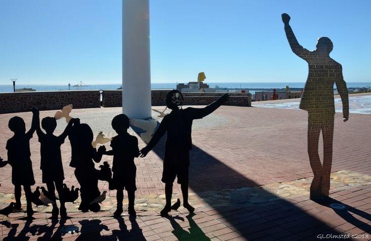 The Voting Line in celebration of Nelson Mandela International Day.  Found in Port Elizabeth South Africa. http://geogypsytraveler.com/2014/07/18/foto-friday-fun-68/