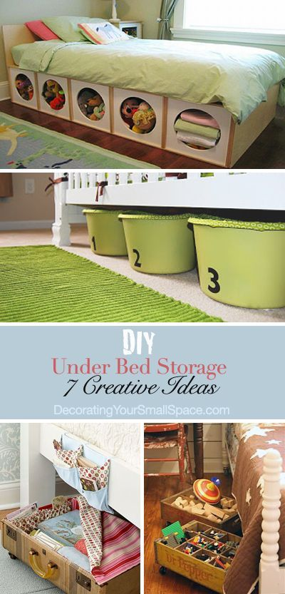 DIY Under Bed Storage: We are all looking for more home storage, and those of us with small homes need it more than most. Under bed storage is not a new idea, but these ideas are! We have some clever ideas, and a couple of great tutorials to create the most of your storage space.
