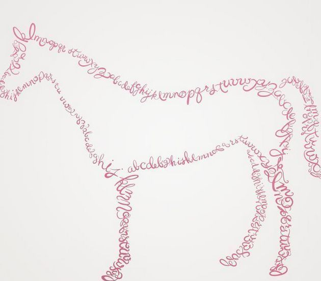 pottery barn kids alphabet horse wall decal
