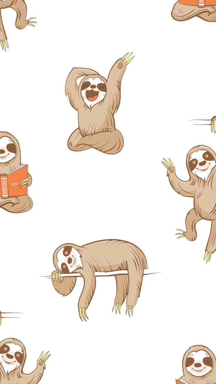 sloth Phone background patterns, Ipad background, Sloth