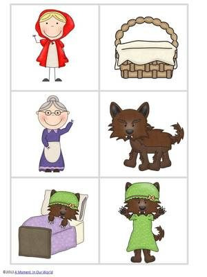 Little Red Riding Hood Pack from AMomentInOurWorld on TeachersNotebook.com - (68 pages) - Little Red Riding Hood Pack including flashcards, fun activities, tic tack toe and more