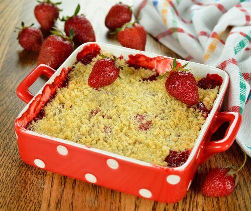 Κραμπλ με φράουλες