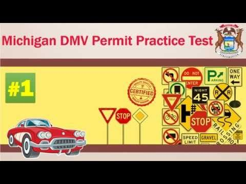 Driving license test Michigan DMV Permit Practice Test 2016