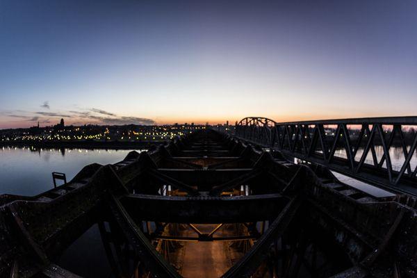 Road Bridge on the Vistula River, Tczew, Poland by Patryk Muntowski, via Behance