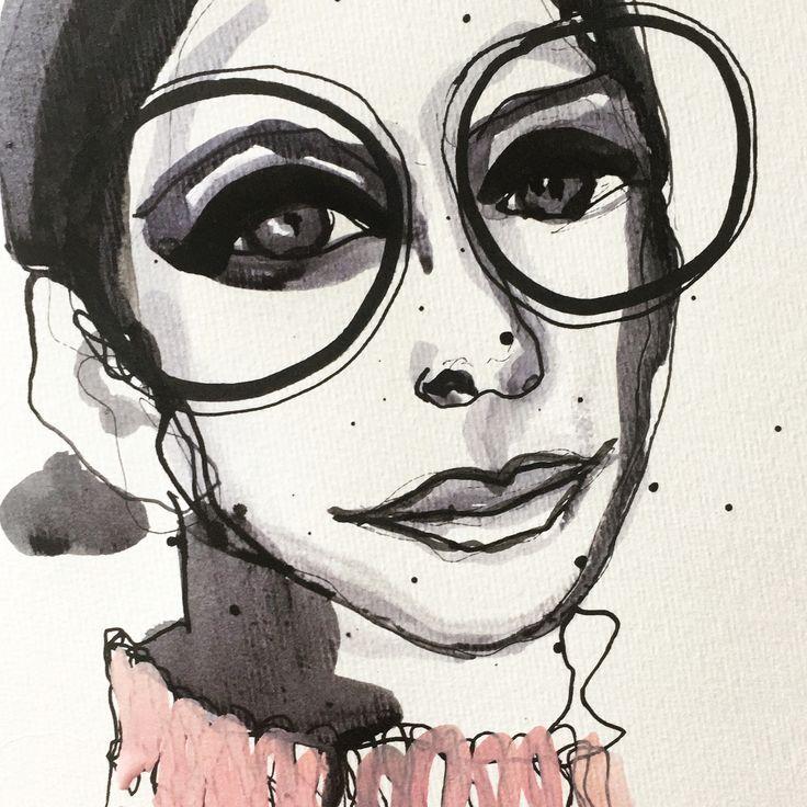 Painted on watercolor paper, Eva Kock