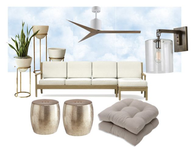 """Alfresco"" by olesya85 on Polyvore featuring interior, interiors, interior design, home, home decor, interior decorating, Global Views, Pillow Perfect and Pier 1 Imports"