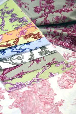 Toile - baby quilt material???  I think so :) - now I just need to learn to quilt :)