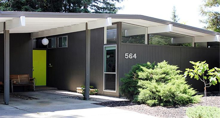 1180 best curb appeal images on pinterest arquitetura for Small mid century modern homes