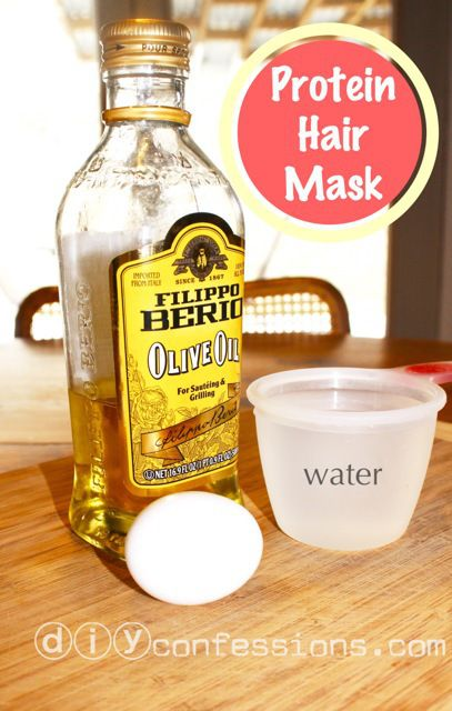 DIY/Home-Made PROTEIN HAIR MASK! This mask treats dry, damaged and limp hair to restore, nourish and give body once again!
