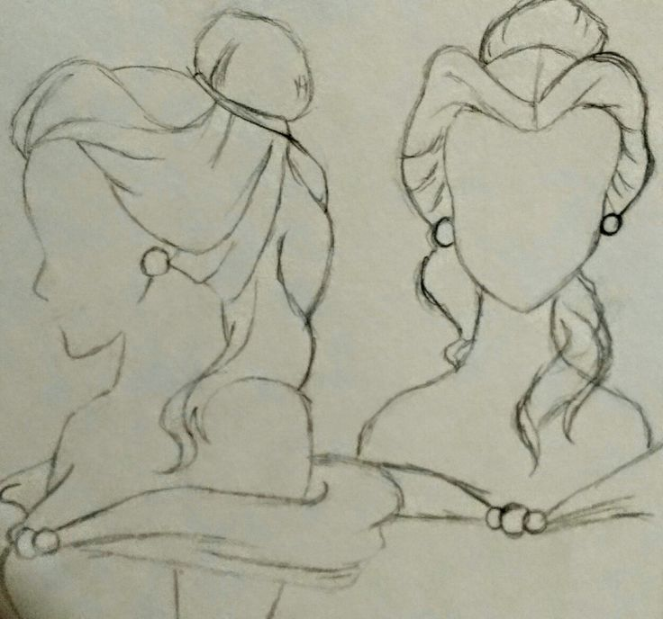 Belle - Free Hand Sketch By: Anima Armah