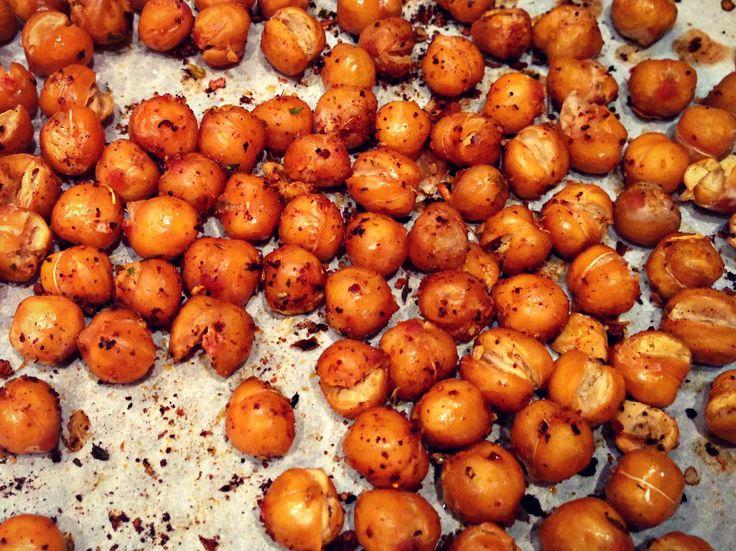 recette - collation santé- pois chiches grillés