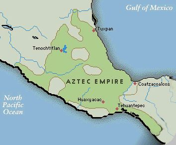 Five major cities of the Aztec Empire were Tenochtitlan, Tuxpan, Huaxyacac, Tehuantepec, and Coatzoalcos.