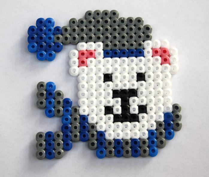 Polar bear hama perler beads