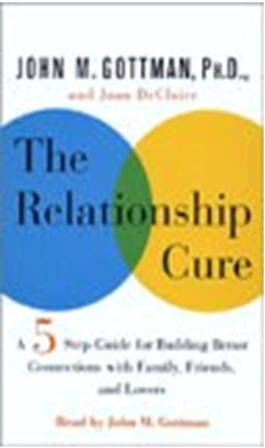 The Relationship Cure  http://www.learnhowtobuildselfesteem.com/self-esteem-audio-books/ ___________________________ ___________________________ (by Dr. John Gottman) is a relationships book for anyone seeking to improve their relationships. ■ You will Discover the revolutionary five-step program for repairing troubled relationships – with your lover (boyfriend or girl friend), spouses, children, friends, and colleagues (co-workers)…