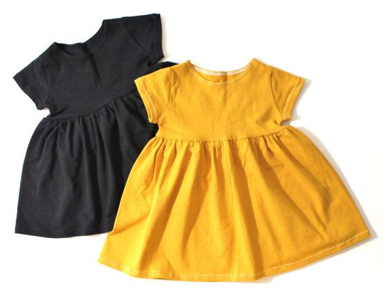 Girls black dress baby girl clothes girls by LittleFootClothingCo