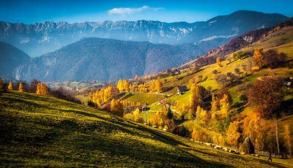 Romanian Traditional Mountain Village