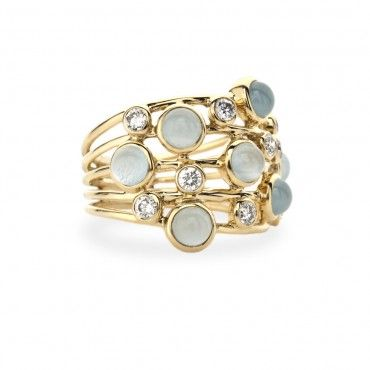 Ippolita: Pretty Rings, Ippolita Rings, Rock Candy, Gold Rings, Constellations Rings, Stacking Rings, Milky Aqua, Ippolita Constellations, Rocks Candy