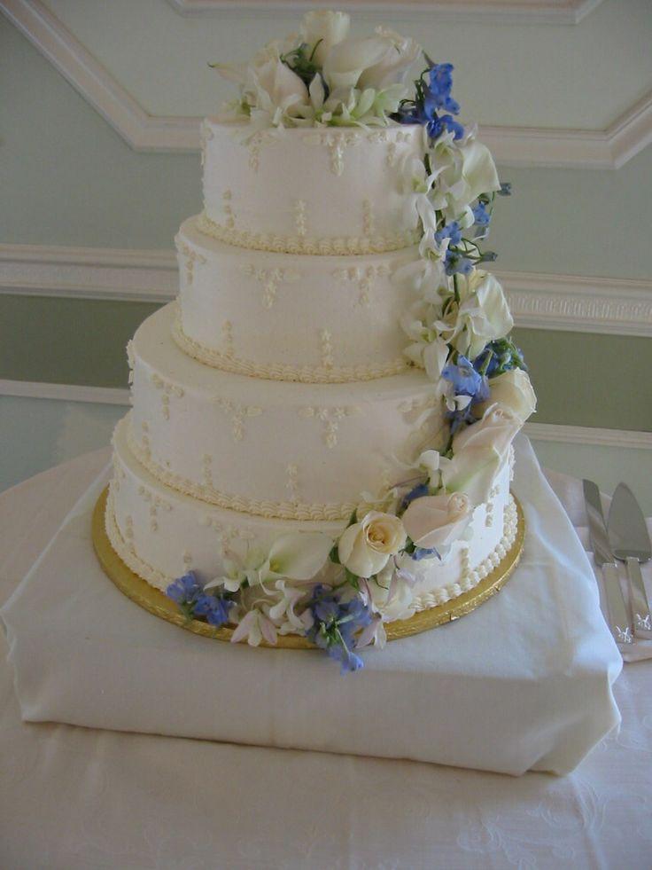 Wedding cake floral decor Amaryllis Decorators Northvale