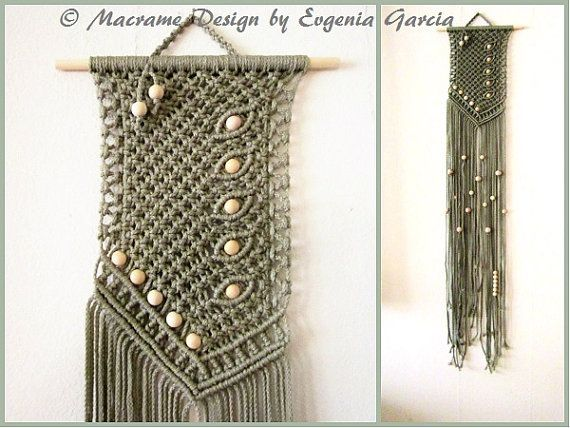 macrame wall hanging asymmetry handmade macrame home decor macrame wall art rope weaving. Black Bedroom Furniture Sets. Home Design Ideas
