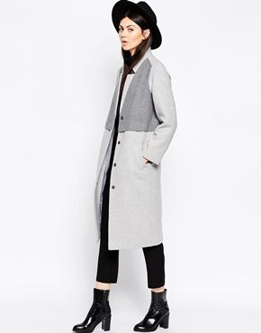 ASOS Coat in Cocoon Fit with Panel Detail
